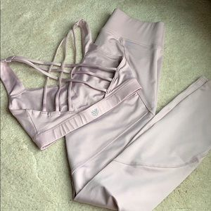 Baby pink workout set